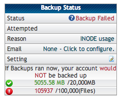 HostGator Inodes Reducing Inodes