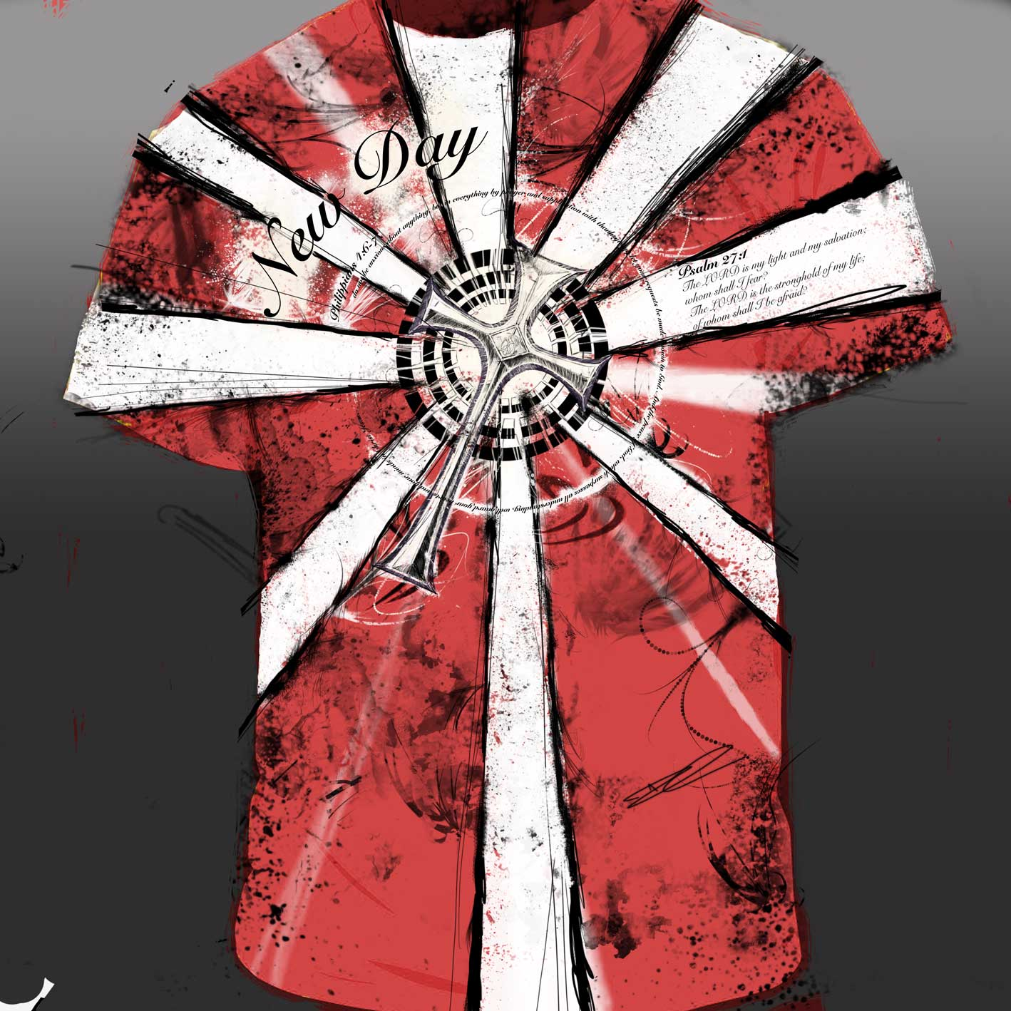 DetailWork Red T shirt New T Shirt Design by Houston Artist