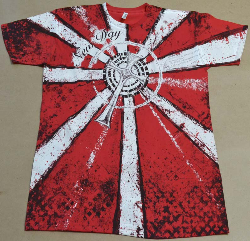 Red XL SHIRT New T Shirt Design by Houston Artist